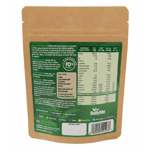 bodyme, matcha green tea powder