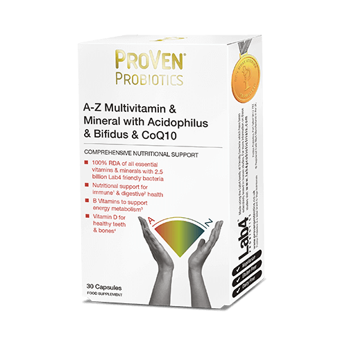 proven, complete multivitamin & mineral with friendly bacteria & CoQ10
