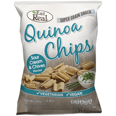 cofresh, eat real quinoa sour cream chive chips