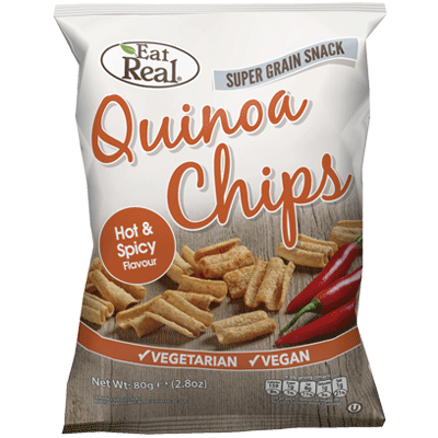cofresh, eat real quinoa hot spicy chips