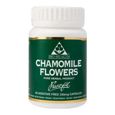 bio health, chamomile flower