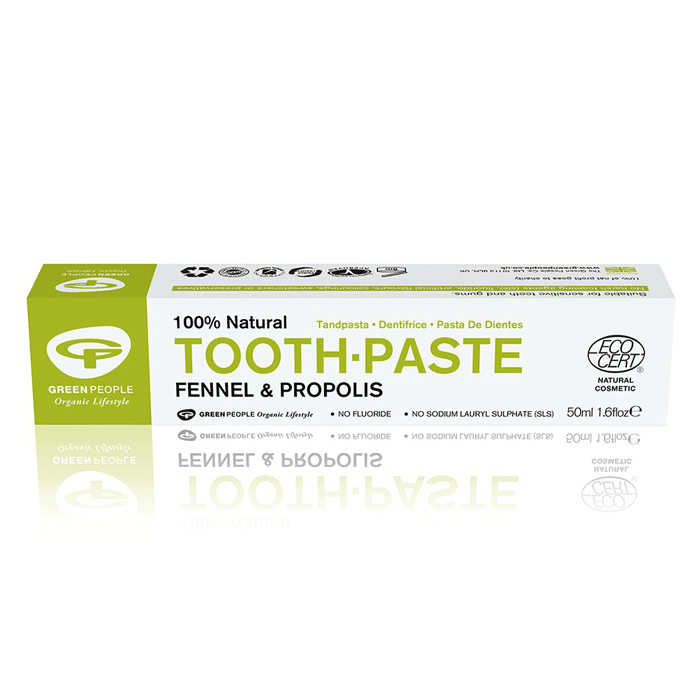 green people, fennel toothpaste