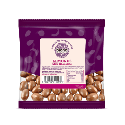 biona, milk choc almonds