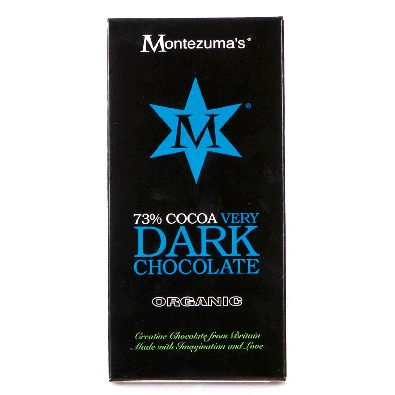 montezumas, 73% dark chocolate bar