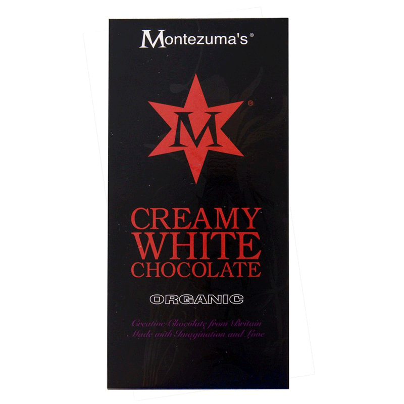 montezumas, creamy white chocolate bar