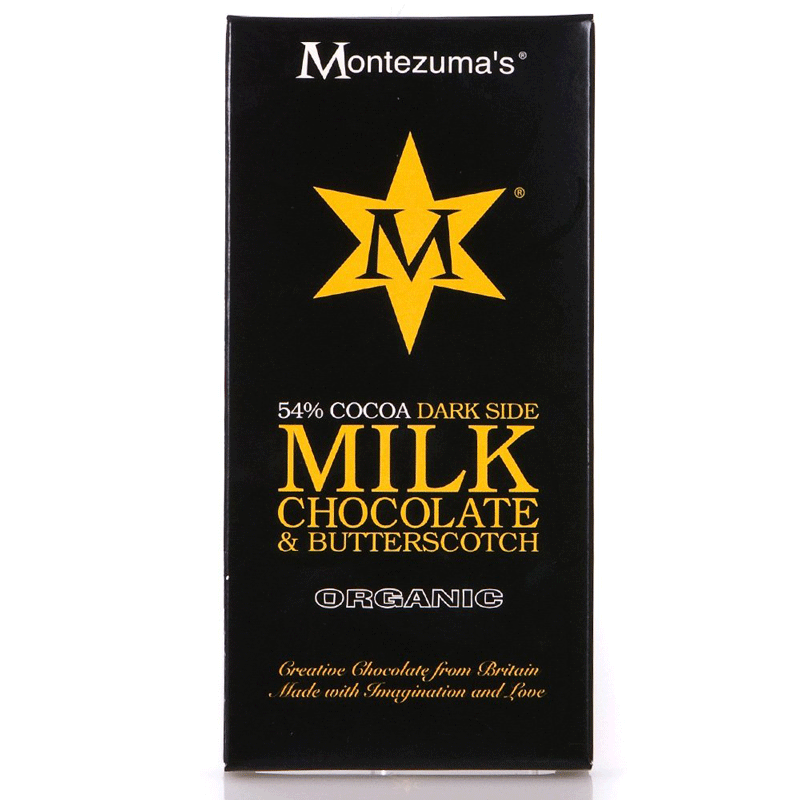 montezumas, milk chocolate butterscotch bar