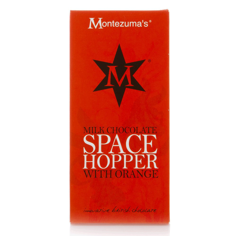 montezumas, milk chocolate space hopper bar