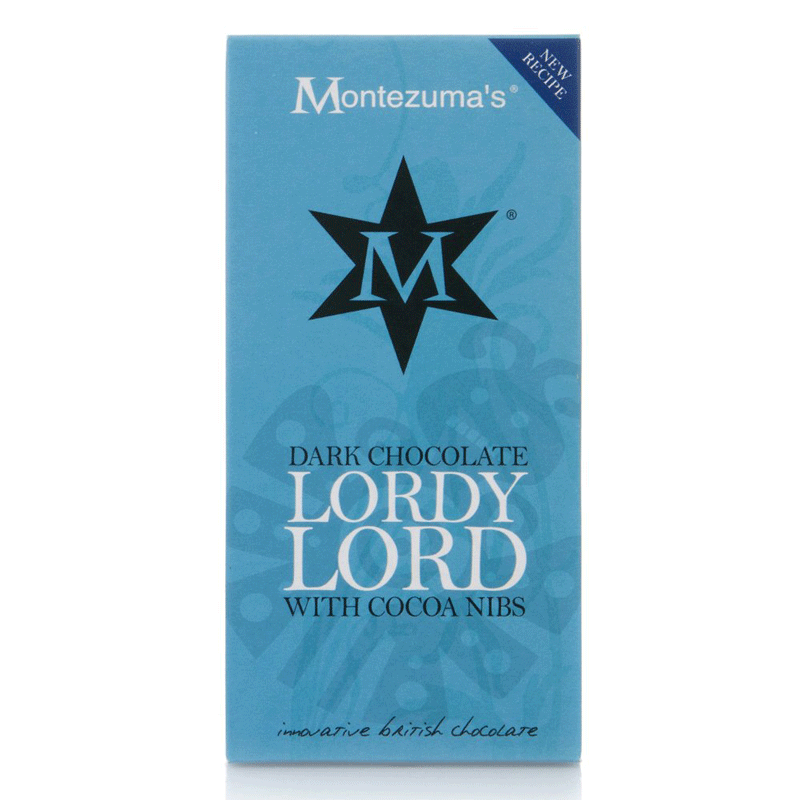 montezumas, dark chocolate lordy lord bar