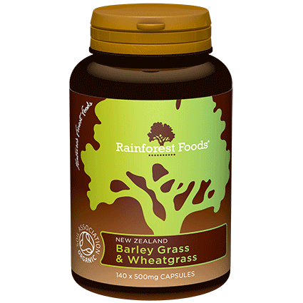 rainforest foods, nz barley grass & wheatgrass