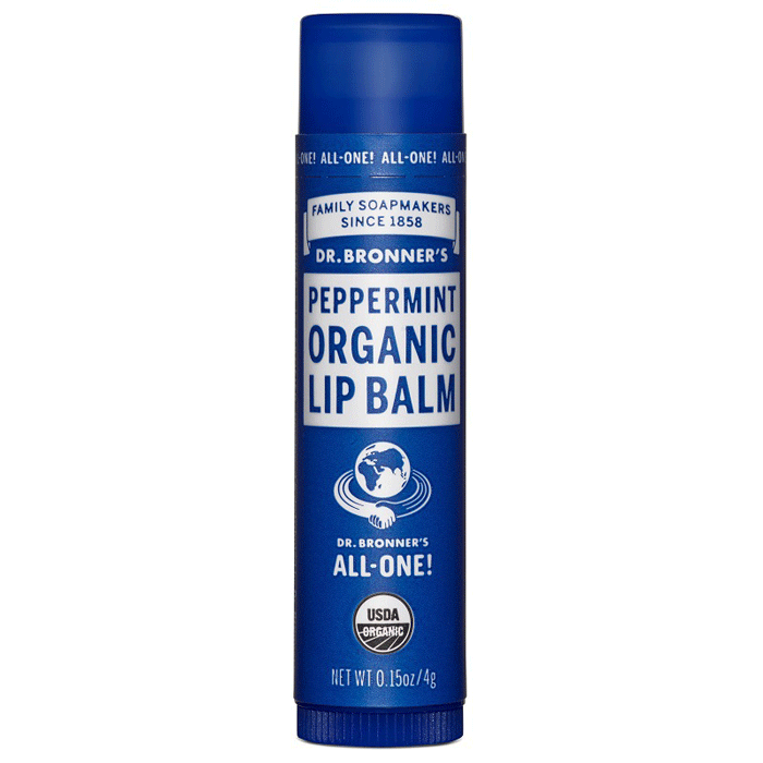 dr bronner, lip balm peppermint